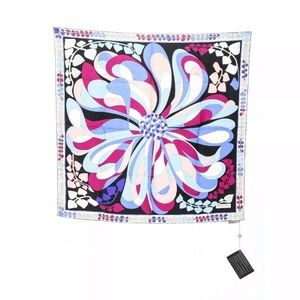 NWT Emilio Pucci 100% silk scarf abstract floral